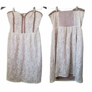 UO pins and needles women's strapless lace dress